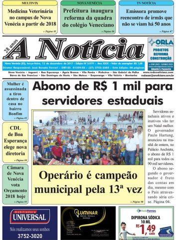 Jornal A Notícia - Edição 3979 - 12/12/2017