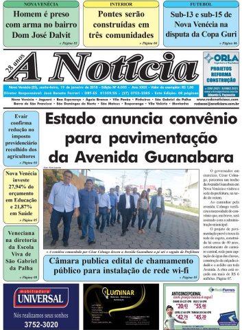 Jornal A Notícia - Edição 4005 - 19/01/18