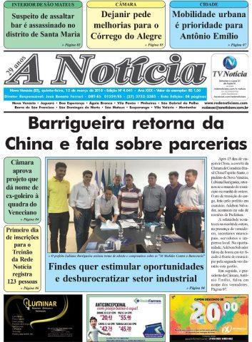 Jornal A Notícia - Edição 4041 - 15/03/18