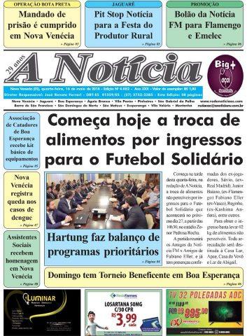 Jornal A Notícia - Edição 4082 - 16/05/18