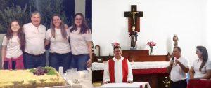 Para comemorar a vida nova, Solivan e família participaram de Missa em agradecimento, com direito a festa no final