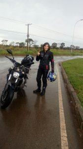 Essa foi a viagem mais longa da vida de Rayana sobre duas rodas
