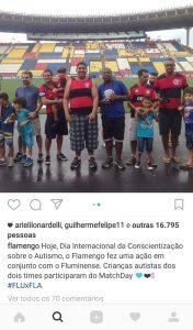 » A foto foi postada no Instagram do Flamengo, após o jogo