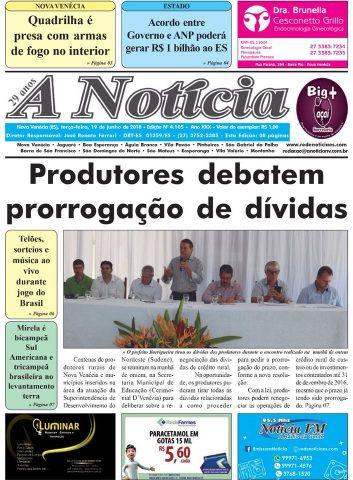 Jornal A Notícia - Edição 4105 - 19/06/18