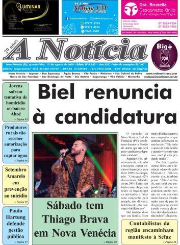 Jornal A Notícia - Edição 4145 - 15/08/18