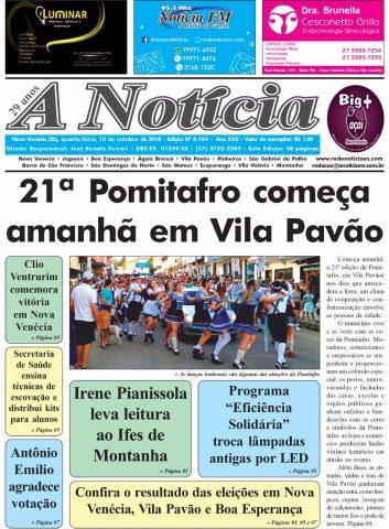 Jornal A Notícia - Edição 4184 - 10/10/18