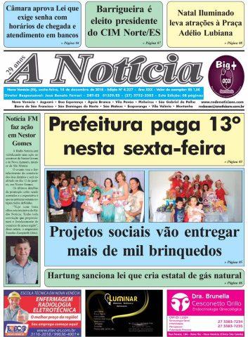 Capa A Notícia - Edição 4227 - 14/12/18