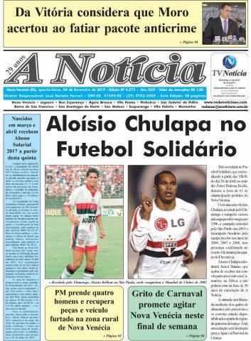 Capa A Notícia - Edição 4273 -20/02/19