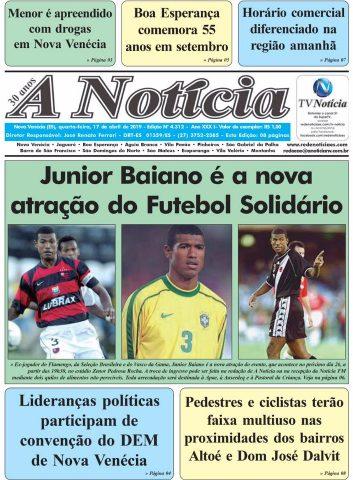 Capa A Notícia - Edição 4312 - 17/04/19