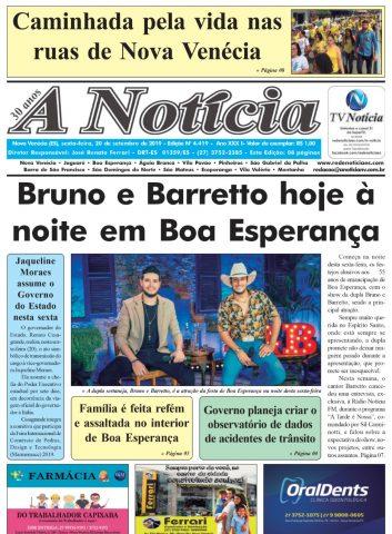 A Notícia || Edição 4419 || 20/09/19