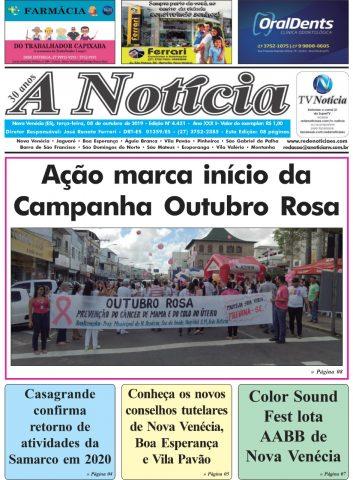 A Notícia | Edição 4431 | 08/10/19